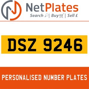 1990 DSZ 9246 PERSONALISED PRIVATE CHERISHED DVLA NUMBER PLATE For Sale
