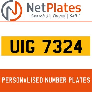 1990 UIG 7324 PERSONALISED PRIVATE CHERISHED DVLA NUMBER PLATE For Sale