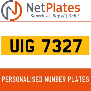 1990 UIG 7327 PERSONALISED PRIVATE CHERISHED DVLA NUMBER PLATE For Sale