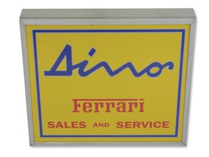 Ferrari Dino Sales and Service Illuminated Sign For Sale by Auction