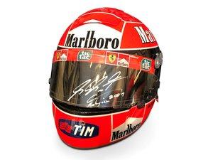 Michael Schumacher Ferrari Helmet, 2001 For Sale by Auction