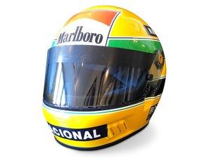 Ayrton Senna McLaren Helmet, 1989