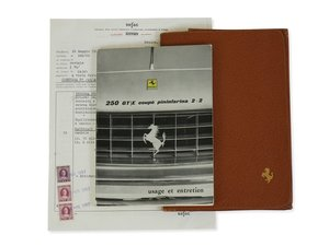 Ferrari 250 GTE 2+2 Owners Manual and Documents For Sale by Auction