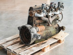 1952 Delahaye Engine and Three Solex Carburettors