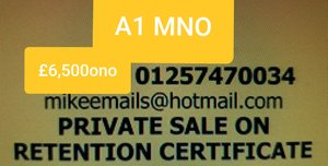 0000 REGISTRATION NUMBER PLATE -  A1M NO For Sale