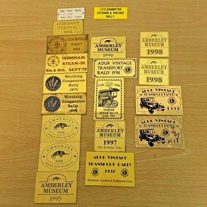 1965 Vintage 19 x steam and car rally brass badges