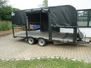 2000 PRG Beavertail Covered Car Transporter For Sale by Auction