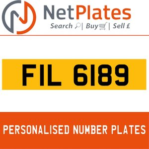 1963 FIL 6189 Private Number Plate from NetPlates Ltd For Sale