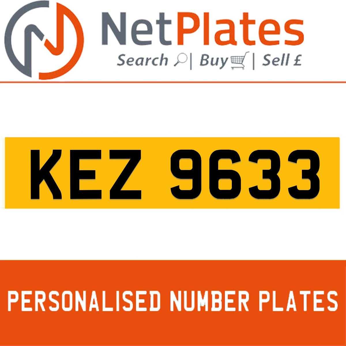 1963 KEZ 9633 Private Number Plate from NetPlates Ltd For Sale (picture 1 of 5)