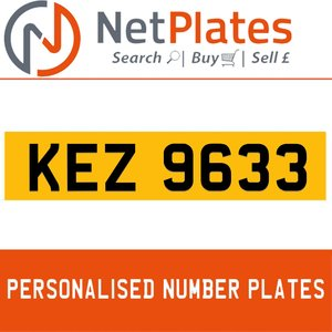 1963 KEZ 9633 Private Number Plate from NetPlates Ltd For Sale