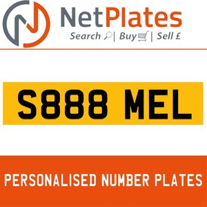 1963 S888 MEL Private Number Plate from NetPlates Ltd For Sale