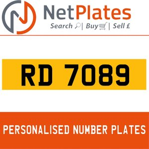 1963 RD 7089 Private Number Plate from NetPlates Ltd For Sale