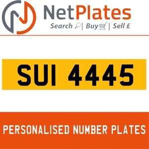1963 SUI 4445 Private Number Plate from NetPlates Ltd For Sale