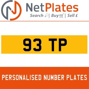 1963 93 TP Private Number Plate from NetPlates Ltd For Sale