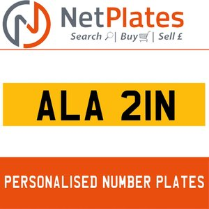 1900 ALA 21N PERSONALISED PRIVATE CHERISHED DVLA NUMBER PLATE For Sale