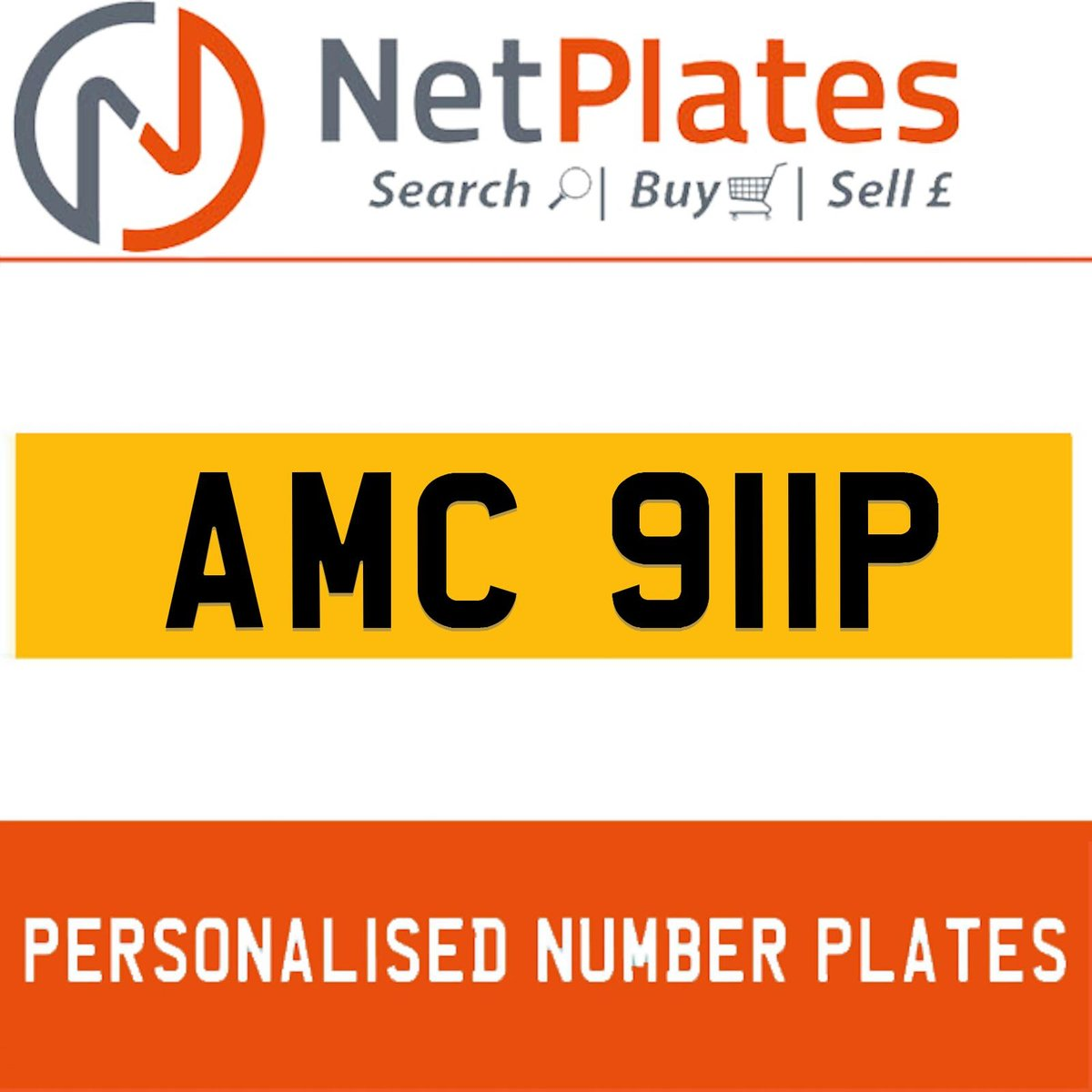1900 AMC 911P PERSONALISED PRIVATE CHERISHED DVLA NUMBER PLATE For Sale (picture 1 of 5)