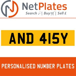 1900 AND 415Y PERSONALISED PRIVATE CHERISHED DVLA NUMBER PLATE For Sale
