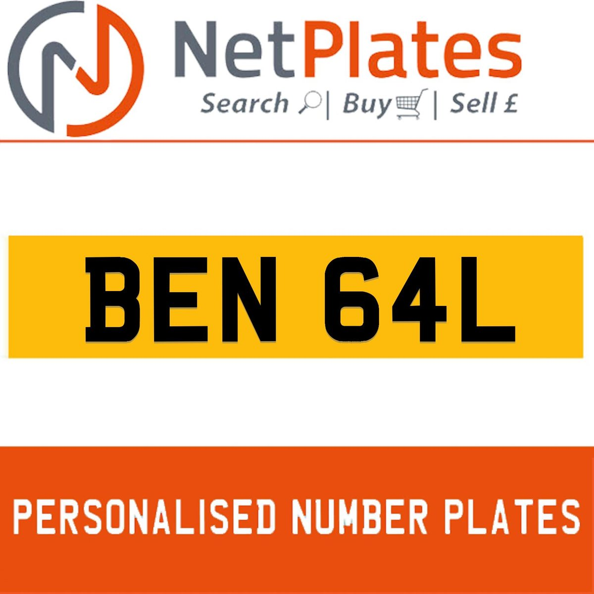 1900 BEN 64L PERSONALISED PRIVATE CHERISHED DVLA NUMBER PLATE For Sale (picture 1 of 5)
