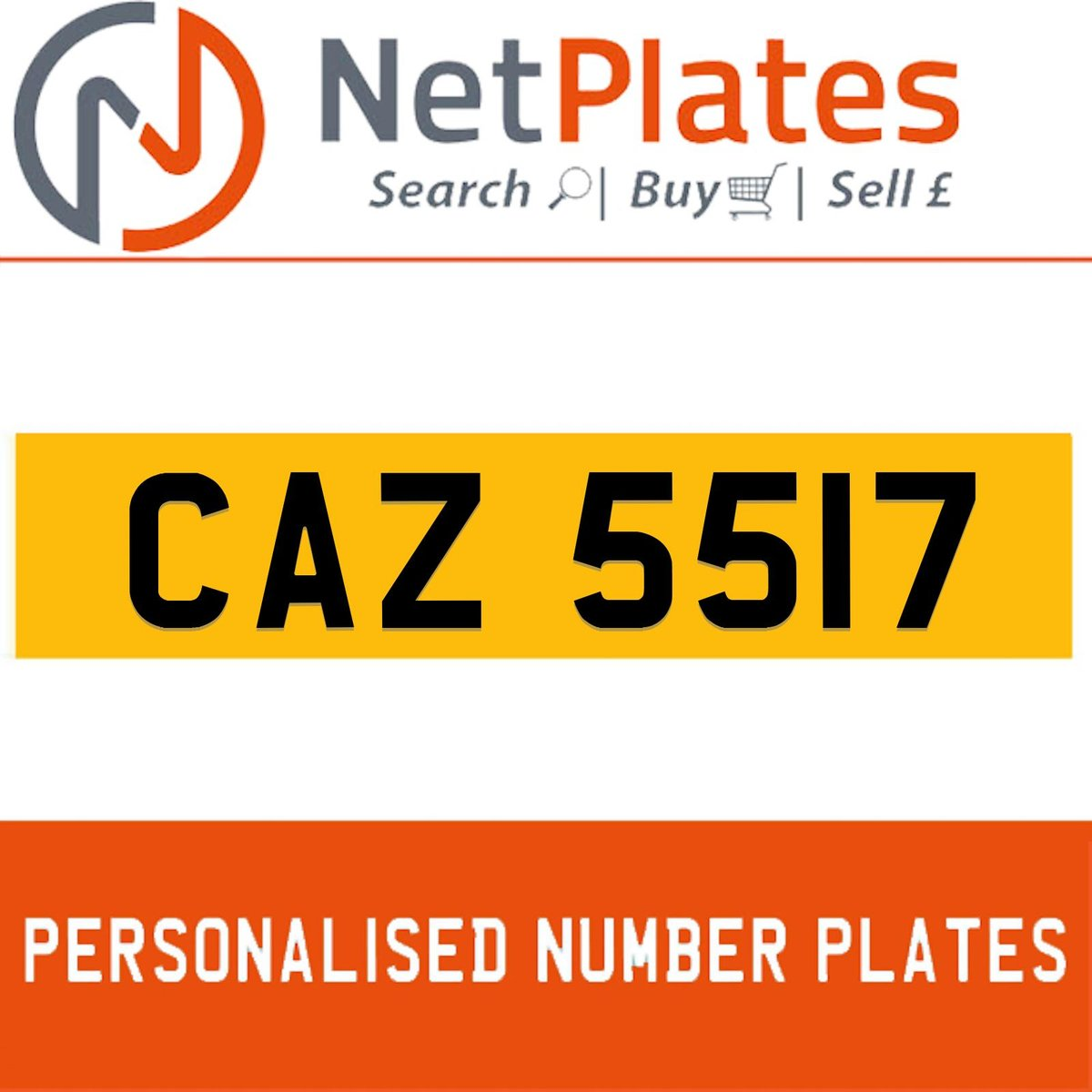 1900 CAZ 5517 PERSONALISED PRIVATE CHERISHED DVLA NUMBER PLATE For Sale (picture 1 of 5)