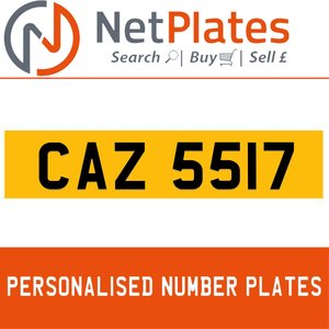 1900 CAZ 5517 PERSONALISED PRIVATE CHERISHED DVLA NUMBER PLATE For Sale