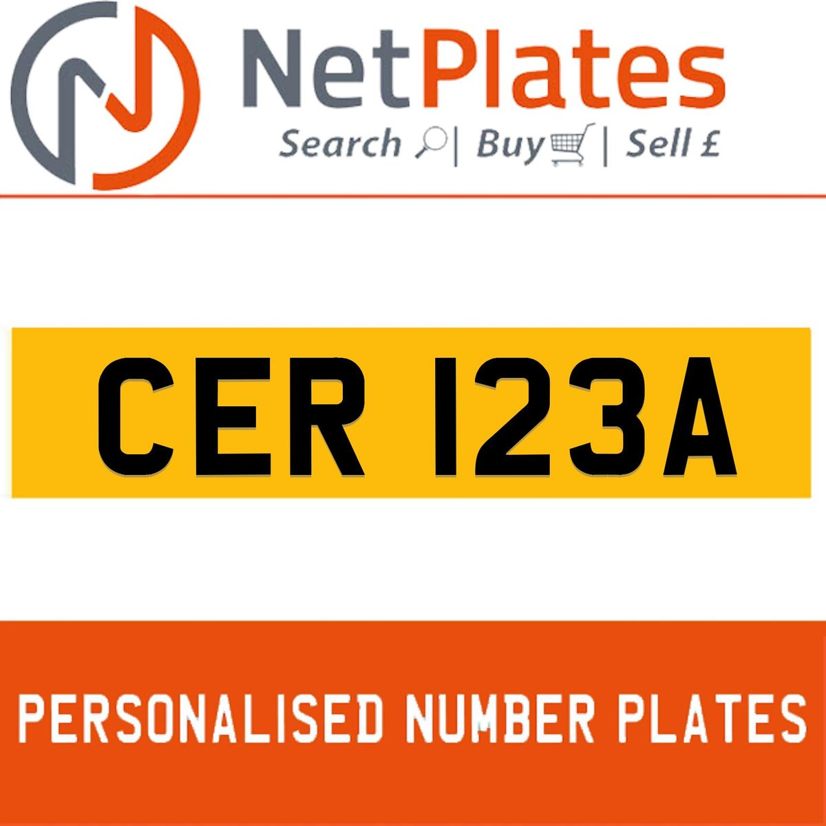 1900 CER 123A PERSONALISED PRIVATE CHERISHED DVLA NUMBER PLATE For Sale (picture 1 of 5)