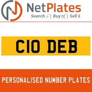 1900 C10 DEB PERSONALISED PRIVATE CHERISHED DVLA NUMBER PLATE For Sale