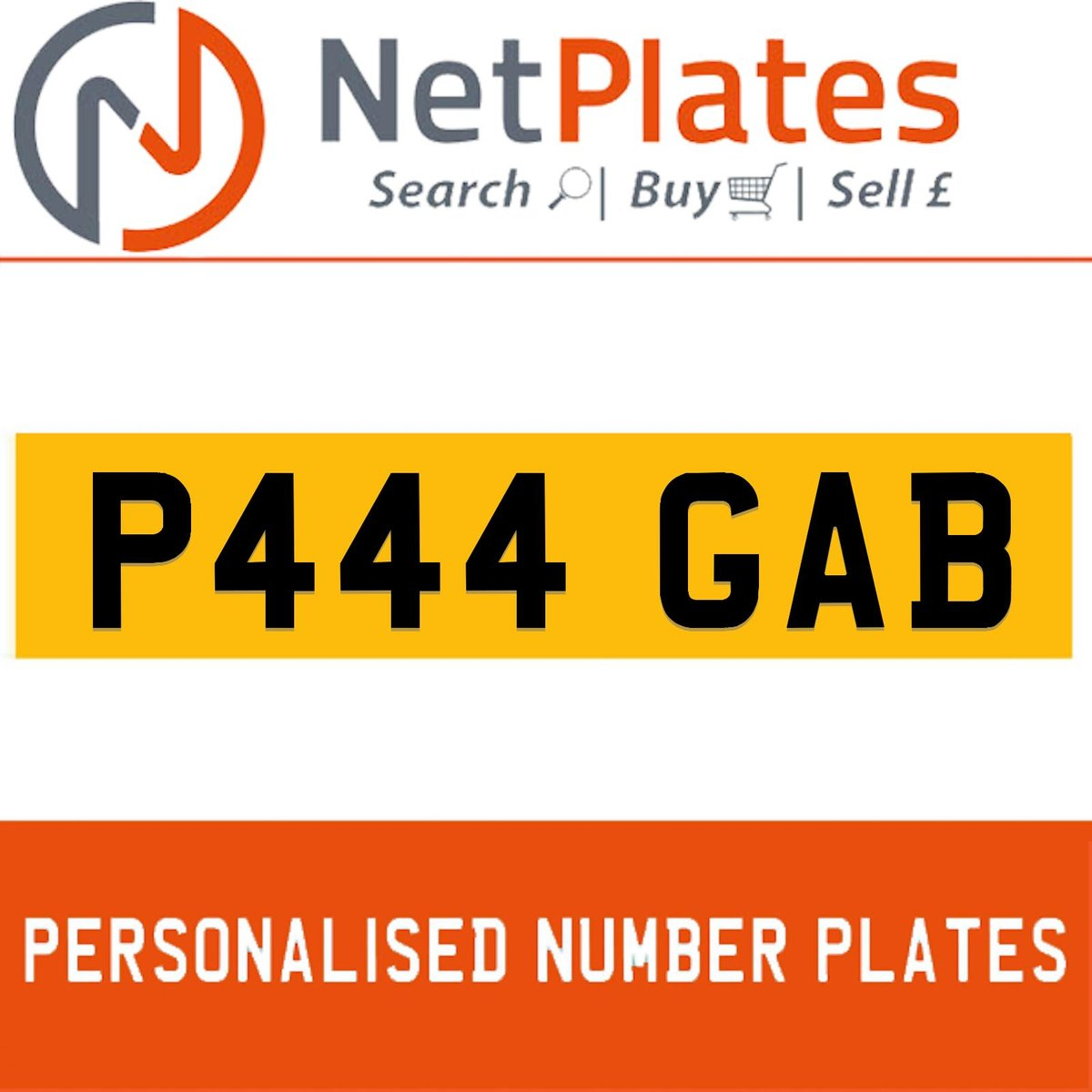 1900 P444 GAB PERSONALISED PRIVATE CHERISHED DVLA NUMBER PLATE For Sale (picture 1 of 5)