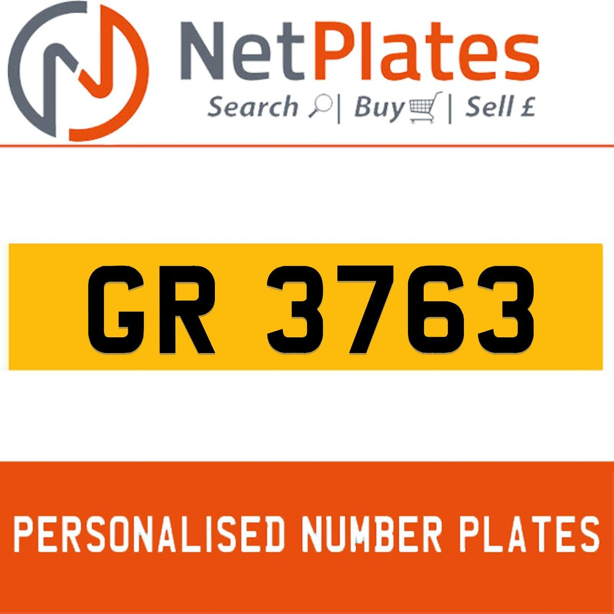1900 GR 3763 PERSONALISED PRIVATE CHERISHED DVLA NUMBER PLATE For Sale (picture 1 of 5)