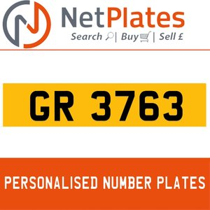 1900 GR 3763 PERSONALISED PRIVATE CHERISHED DVLA NUMBER PLATE For Sale