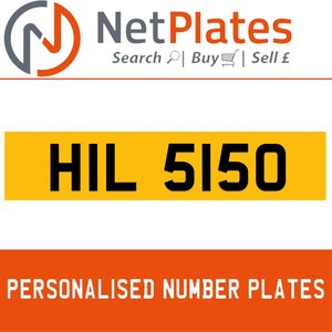 1900 HIL 5150 PERSONALISED PRIVATE CHERISHED DVLA NUMBER PLATE For Sale