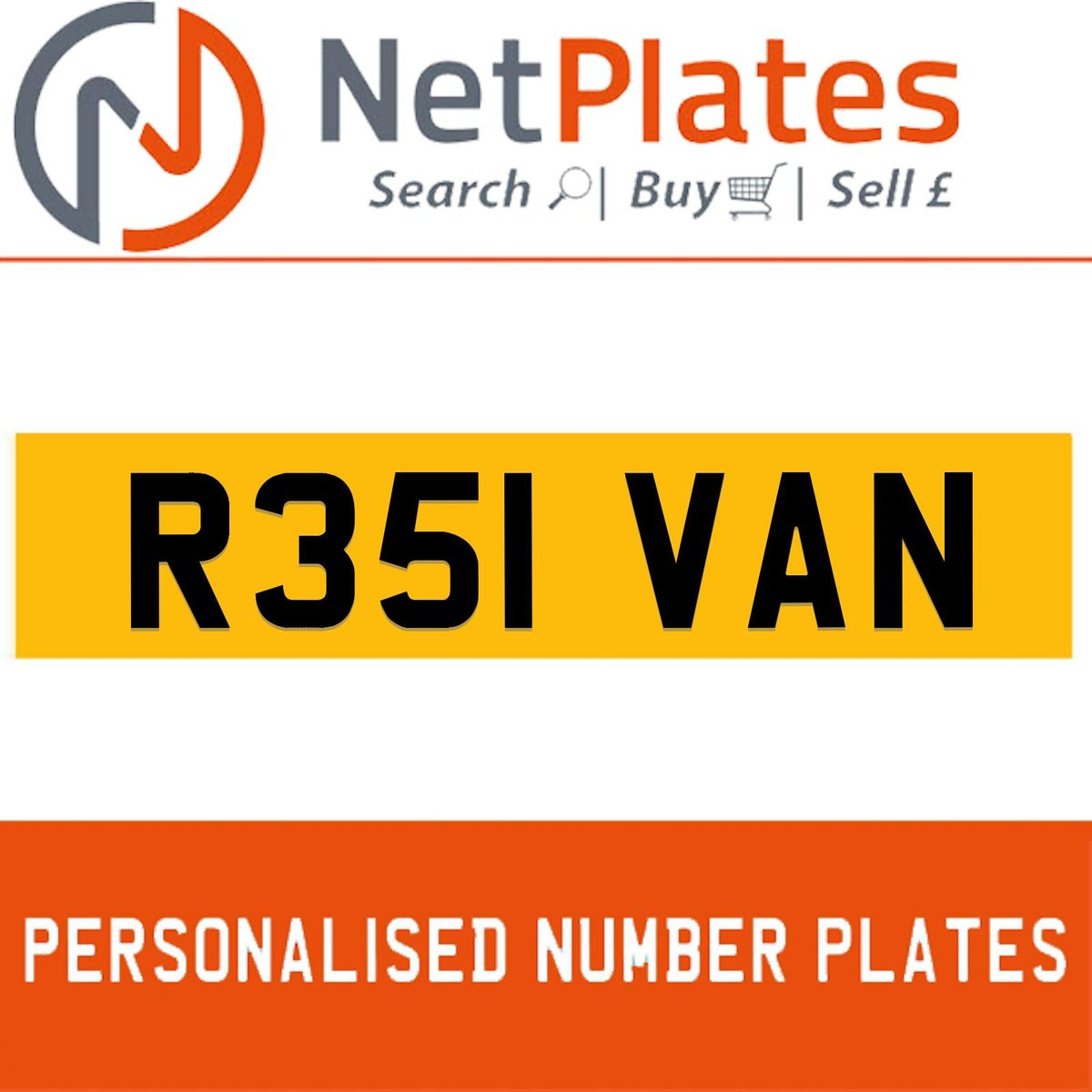 1900 R351 VAN PERSONALISED PRIVATE CHERISHED DVLA NUMBER PLATE For Sale (picture 1 of 5)
