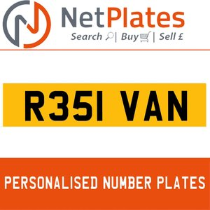 1900 R351 VAN PERSONALISED PRIVATE CHERISHED DVLA NUMBER PLATE For Sale