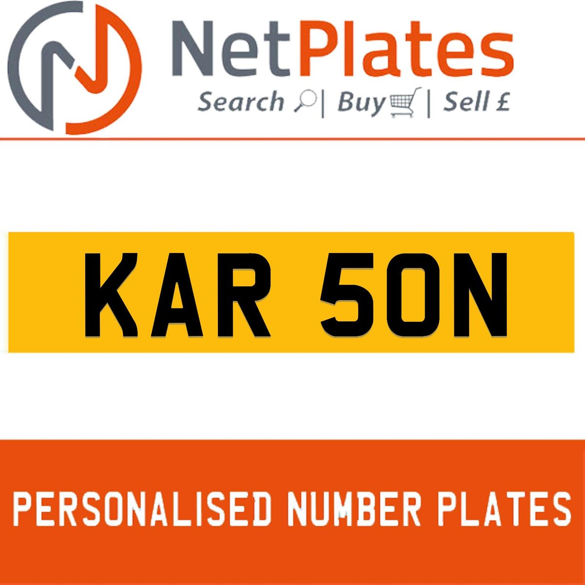1900 KAR 50N PERSONALISED PRIVATE CHERISHED DVLA NUMBER PLATE For Sale (picture 1 of 5)