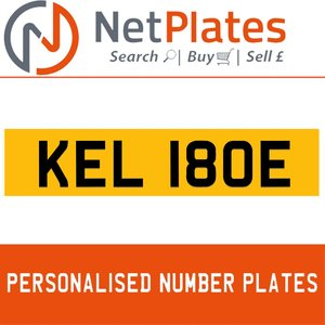 1900 KEL 180E PERSONALISED PRIVATE CHERISHED DVLA NUMBER PLATE For Sale