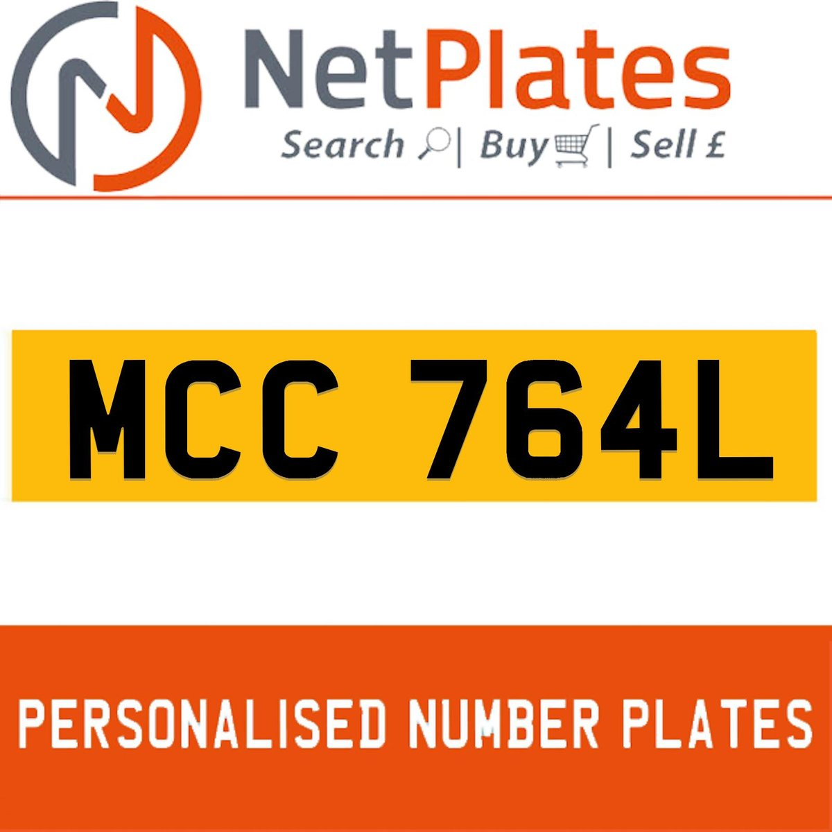 1900 MCC 764L PERSONALISED PRIVATE CHERISHED DVLA NUMBER PLATE For Sale (picture 1 of 5)