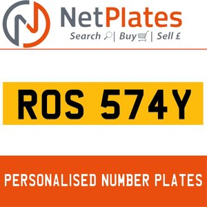 1900 ROS 574Y PERSONALISED PRIVATE CHERISHED DVLA NUMBER PLATE For Sale