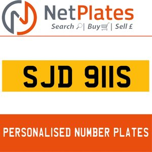 1977 SJD 911S PERSONALISED PRIVATE CHERISHED DVLA NUMBER PLATE For Sale
