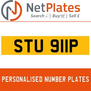 1975 STU 911P PERSONALISED PRIVATE CHERISHED DVLA NUMBER PLATE For Sale