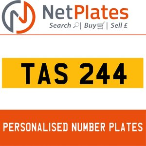 TAS 244 PERSONALISED PRIVATE CHERISHED DVLA NUMBER PLATE