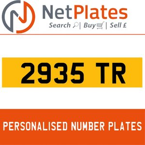 1963 2935 TR PERSONALISED PRIVATE CHERISHED DVLA NUMBER PLATE For Sale