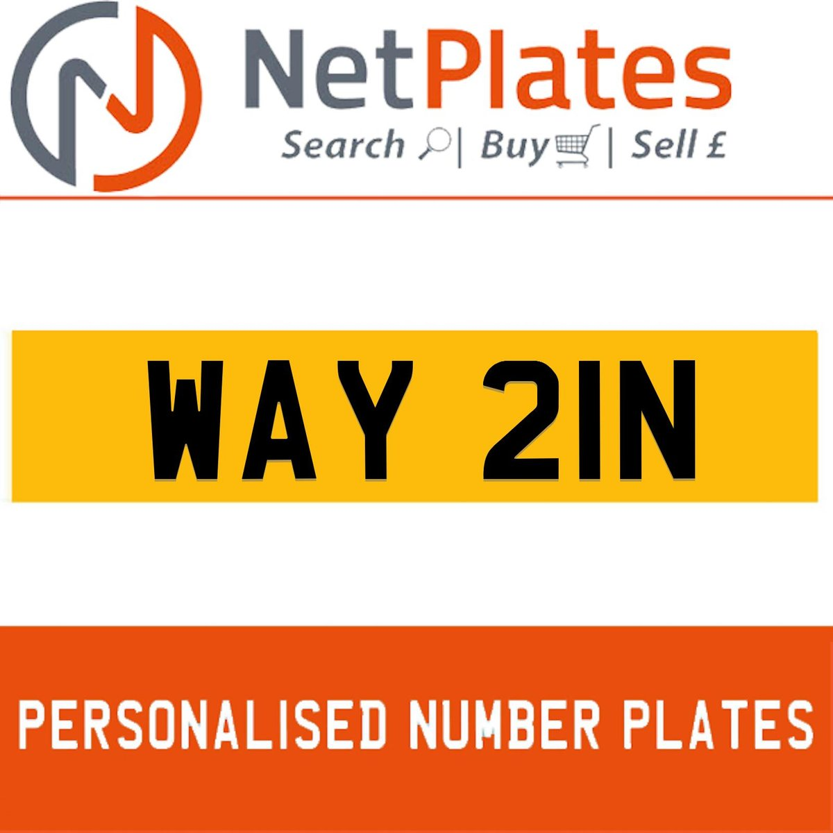 1974 WAY 21N PERSONALISED PRIVATE CHERISHED DVLA NUMBER PLATE For Sale (picture 1 of 5)