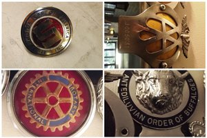 0000 25 CLASSIC CAR BADGES VARIOUS MAKES AND DESIGNS FOR SALE For Sale