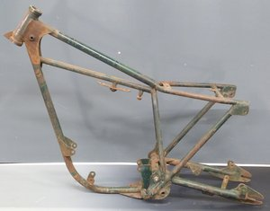1967 Cotton trials motorcycle frame with V5c