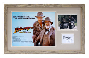 0000 Indiana Jones and The Last Crusade / Harrison Ford Autograph For Sale