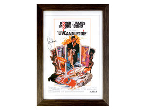 0000 Roger Moore as James Bond - Live and Let Die Movie Poster (S For Sale by Auction