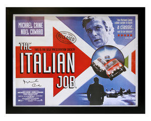 0000 The Italian Job / Michael Caine Movie Poster (Signed) For Sale by Auction
