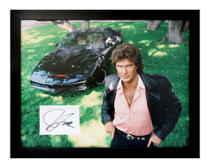 0000 Knight Rider / David Hasselhoff Autograph Presentation For Sale by Auction