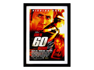 0000 Gone in 60 Seconds / Nicolas Cage Movie Poster (Signed) For Sale by Auction