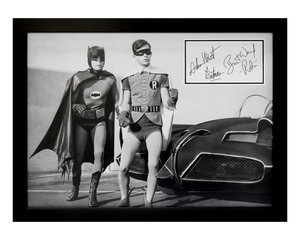 0000 Batman and Robin / Adam West and Burt Ward Autograph Present For Sale by Auction