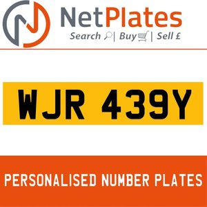 1900 WJR 439Y PERSONALISED PRIVATE CHERISHED DVLA NUMBER PLATE For Sale